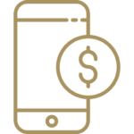 Illustration of a phone with a coin beside it